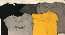 Lot of 5 Womens Shirts Size L Blouse Top Short Sleeve Gap Old Navy Nyc Shirt Euc