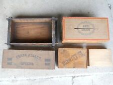 LOT OF 5 WOOD BOXES