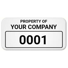 """6 Mil Polyester 0.75"""" × 1.5"""" Custom Asset Tag/ Property Tags/ Inventory Tags..."""