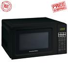 Kitchen Office Home Mini Microwave Oven Digital Countertop Appliance Black Small photo