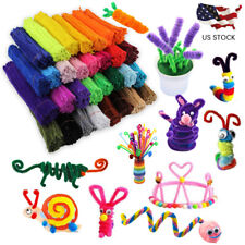 100Pcs Plush Cleaners Kids Educational DIY Toy Chenille Children Pipe Stems