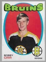 1971-72 Bobby Orr # 100 NM 1972 Stanley Cup MVP Boston Bruins