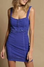 Free People Lace Me Up Bodycon Mini Dress. Blue. Small. RRP £68