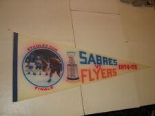 "Felt pennant-30""-Phila Flyers v Buffalo Sabres 1974/75 NHL Stanley Cup Finals"