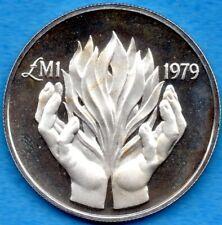 Malta 1979 One Pound Silver Coin KM #51 - Proof