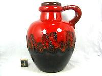 "Beautiful glazed  70´s design Scheurich "" Fat Lava "" Keramik Vase  486 - 38"