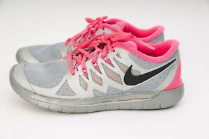 Nike Free Run 5.0 Flash SZ 4.5Y Reflect Silver Hyper Pink GS 4Y 685712-001 Youth