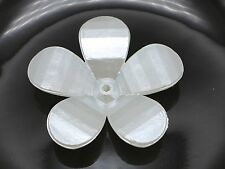 50 Ivory Acrylic Large Pearl 5-Petals Flower Beads Cap 30mm Center Hole Sewing