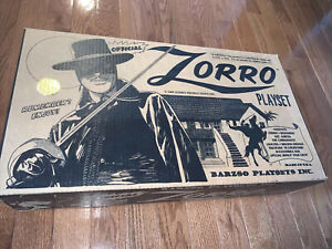 2009 BARZSO ZORRO PLAYSET BOX AND PAPER WORK MIB SINGED BY BARZSO