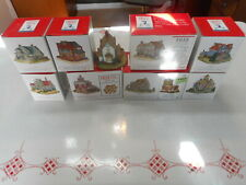 Miniature Village House Store School + Liberty Falls Collection Lot of 9