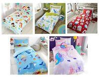 Children Kids Duvet Cover Bedding Set + Pillowcase Single Girls Boys Xmas Design
