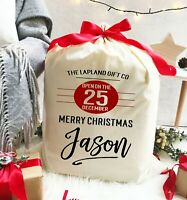 Christmas Santa Sack Gift Bag | Do Not Open Until 25th | Personalised