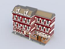 Lego modular School MOC PDF instructions (tags: building, build, city, creator)