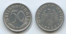 G4581 - Drittes Reich 50 Reichspfennig 1941 D (J.372) Third Reich