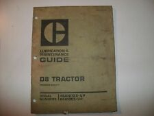 D8 TRACTOR CAT CATERPILLAR LUBRICATION & MAINTENANCE GUIDE DOZER POWER SHIFT