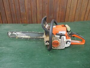 """Vintage STIHL MS250 Chainsaw Chain Saw with 16"""" Bar with Log Spike"""