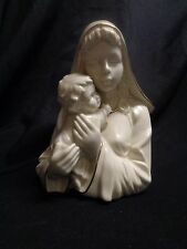 Mikasa Madonna and Child Porcelain Figurine Ivory with Gold Trim