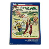 Intellivision PGA Golf Mattel Game Boxed With Instructions & Control Overlays