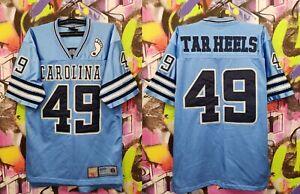 North Carolina Tar Heels #49 NFL Football Jersey Top Colosseum Athletics Mens S