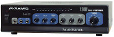 New Pyramid 120 Watt Microphone PA Amplifier with 70 V Output & Mic Talkover