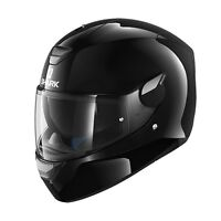 Shark D-Skwal Blank Gloss Black Motorcycle HELMET ZQ