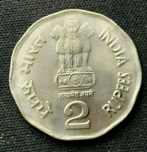 2003 India 2 Rupees Coin UNC +       World Coin Copper Nickel     #K1554