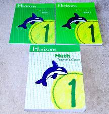 Horizons (1st grade) MATH 1 SET - Teacher's Guide & Student Workbook Books 1 & 2