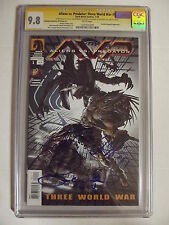 Aliens vs Predator: Three World War #1 - CGC SS 9.8 - 3x signed - AVP 1031101049