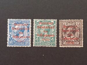 IRELAND (1922) – Dollars red overprints, mint . 9p no gum