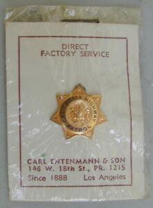 Old Original California Highway Patrol Pin New Old Stock 1940's Very Rare