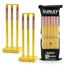 Sunley Yellow Hard Plastic Cricket Wickets Set - 3pcs