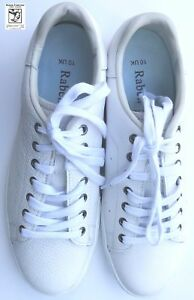 RABEN Raben Premium Leather Lace up Sneakers in White