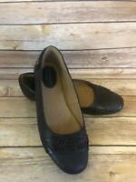 Montana Ballet Flats Size 9.5 M Womens Black Leather Slip On Shoes Career Casual