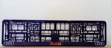 2 x Audi Number Plate Surrounds Holder Frame New For Cars
