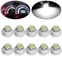 10X T5/T4.7 White Neo Wedge LED Bulb 1-5050-SMD For A/C Climate Control Light