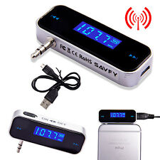 Wireless Music to Car Radio Fm Transmitter For 3.5mm Mp3 iPod Phones Tablets