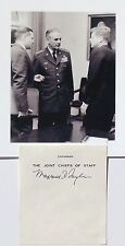 General Maxwell Taylor WWII Commander Chairman Joint Chief Staff Autograph