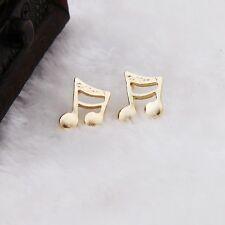 Borsa regalo gratuito Gold Tone Croma Nota Musicale Orecchini donna gioielli Natale