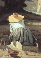 GUIGOU PAUL CAMILLE FRENCH 1834 1871 ARTIST PAINTING OIL CANVAS REPRO ART DECO