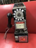Vintage Western Electric Bell System Rotary Pay Phone 3 Coin Slot