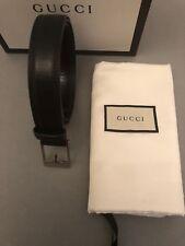 Gucci Para Hombre Clásico Negro Tamaño De La Correa 95cm 38 pulgadas RRP £ 270