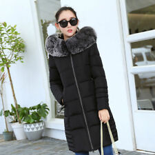 New Winter Women's Slim Long Cotton Ms. Parker Hooded Quilted Jacket