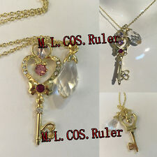 Anime Sailor Moon Chibi Usa Silver Crystal Cosplay Necklace Accessories