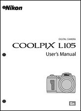 Nikon CoolPix L105 Digital Camera User Guide Instruction  Manual