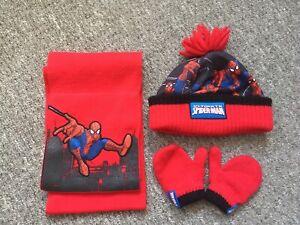 Spiderman Hat Scarf Mitten Set Toddler