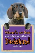 Rough Coated Dachshund Welcome Sign STUNNING 3d Great Christmas Stocking Filler
