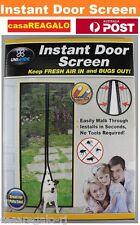 Instant Mesh Screen Door Magnetic Bug Mosquito Fly Pet Patio Net Hands Free