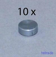 LEGO - 10 x Rundfliese silber ( flat silver ) 1x1 / Fliese rund / 98138 NEUWARE