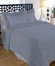 "Morgan Down Alternative Comforter ~ Gray ~ Full/Queen 90"" x 90"" N"