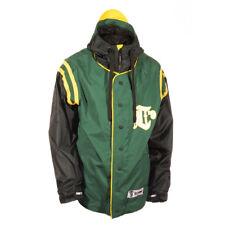 New 2015 Technine Mens Throwback Snowboard Jacket XL Green Black Yellow